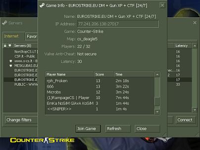 counter strike 1.6 server creator